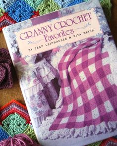 Ok ignore the dated cover...but I am so using this idea someday--Crocheted Gingham Squares!