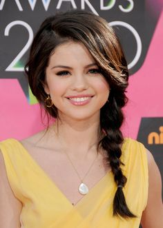 Even though her star was on the rise, Selena Gomez maintained her girl-next-door persona at the 2010 Kids' Choice Awards with a messy side braid.