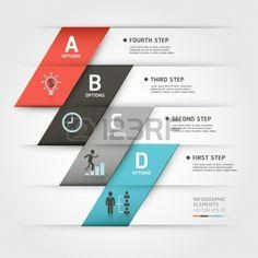 モダンなビジネス スチーブ折り紙スタイル オプション ワークフロー レイアウト、図、番号のオプション バナー ベクトル イラストを使用することができますステップ アップのオプション、web テンプレートは、インフォ グラフィック