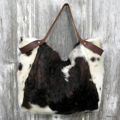 Cheveux sur vachette Slouchy spacieux sac par stacyleigh sur Etsy