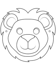 Mascaras de animales para colorear | Bebeazul.top Lion, Crafts For Kids, Symbols, Letters, Halloween, Birthday, Masks, Baby Things, Costumes