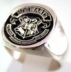 Sterling Silver Hogwarts Class Ring, $58