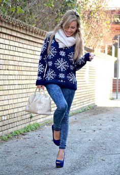 Snowflakes  , Asos en Jerseys, H en Jeans, Zara en Tacones / Plataformas, Furla en Bolsos, H en Pañuelos / Bufandas / Echarpes, Chanel en Gafas / Gafas de sol