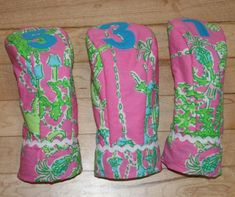 997256319520c0 Golf Club covers made with Lilly Pulitzer fabric Lilly Pulitzer Fabric,  Lily Pulitzer, Golf