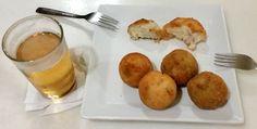 CASA JULIO MADRID croquetas con jamon, espinaca pasas y gorgonzola, setas y puerro www.bettinaincucina.com