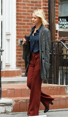 Naomi Watts filming the Netflix psychological drama series 'Gypsy'