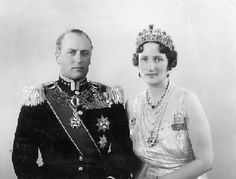 Crown Prince Olav of Norway    and his wife, Crown Princess Märtha, who died before he became King Olav V