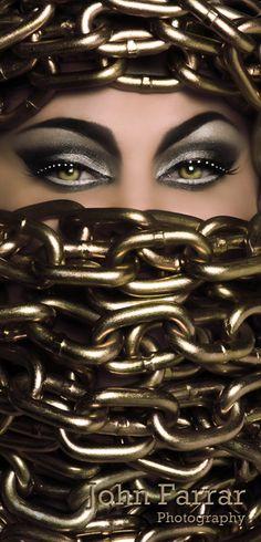 the eyes.............