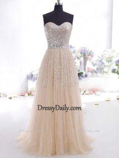 A-line/Princess Sweetheart Sleeveless Beading Floor-length Prom Dresses - Evening Dresses - Social Occasion
