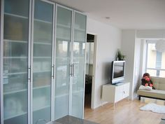 Ikea PAX wardrobe saved my life. Ikea Pax Wardrobe, Wardrobe Doors, Closet Doors, Wardrobe Ideas, Small Apartments, Small Spaces, Work Spaces, Floor To Ceiling Wardrobes, Man Cave