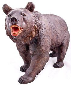 A Swiss Antique Black Forest Strolling Bear, Daniels Antiques