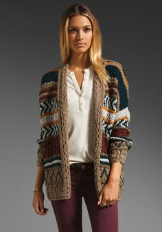 Line The Frivolous Cardigan in Tapestry---perfect autumn colors <3