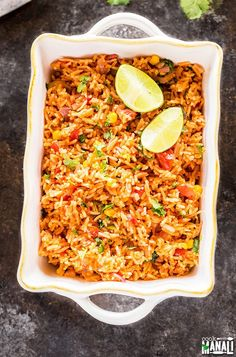 Vegetarian Mexican Rice - Cook With Manali