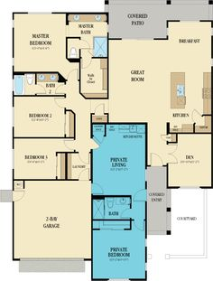 5069 Genesis - Next Gen New Home Plan in Destiny at Remington Heights by Lennar Family House Plans, New House Plans, Dream House Plans, House Floor Plans, Pole Barn Homes, House Blueprints, New Homes, Family Homes, Tiny Homes