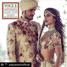 #Sabyasachi #SummerBridal #KishandasForSabyasachi #VogueWeddingShow2016 @vogueindia @kishandasjewellery