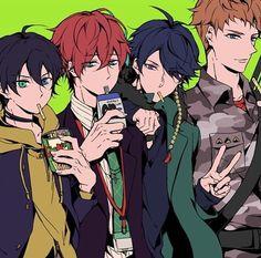 "💮Tam The Vampire💮 on Instagram: ""Chilling with the squad today... ———————————- #matenrou #doppokannonzaka #hypnosismic #hifumiizanami #riomasonbusujima #madtriggercrew…"" Handsome Anime Guys, Hot Anime Guys, All Star, Otaku, Draw The Squad, Rap Battle, Angel Of Death, Shounen Ai, Mystic Messenger"