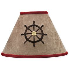 @Overstock - This fun 'Treasure Cove' lamp shade is created to coordinate with other Sweet Jojo Design bedding sets to easily complete the theme of your child's bedroom. This lamp shade features an embroidered pirate design, made with 100 percent microsuede.http://www.overstock.com/Baby/Sweet-JoJo-Designs-Treasure-Cove-Lamp-Shade/7600002/product.html?CID=214117 $25.99