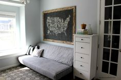 For Bailey's room redo A Family Office And Guest Room in One!  Before And After!