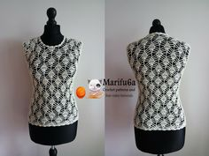 How to crochet pineapple top and blouse free tutorial and pattern by marifu6a