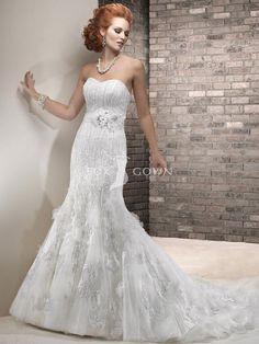 Flower Lace Wedding Dress
