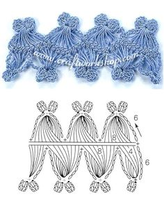 Hairpin lace crochet chart