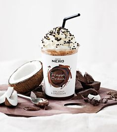 For summer Caffè Nero has expanded its Iced Drinks range with the wonderful 'Frappé Crème', an indulgent new drink. Beverage Packaging, Food Packaging, Brand Packaging, Coffee Photography, Food Photography, Drink Menu, Food And Drink, Food Menu Design, Coffee World