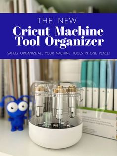Craft Room Organization with the new Cricut Machine Tool Organizer New Crafts, Paper Crafts, Cricut Blades, Cricut Cuttlebug, Machine Tools, Craft Organization, Clear Acrylic, Cricut Ideas, Tips