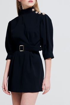 Dion Dress With Belt Discover the latest fashion trends online at storets.com