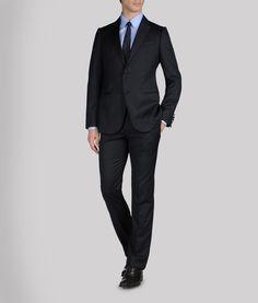 Armani Black Mens Suit.  Hello, it's Armani.
