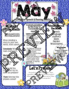 May Speech and Language Newsletter: Vocabulary, Strategies, Carry-over Speech Language Therapy, Speech And Language, Speech Therapy, May Speech, Speech And Hearing, Vocabulary Strategies, Vocabulary Practice, Best Speeches, Language Development