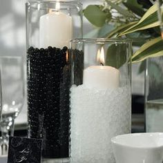So I don't know if you've seen these water pearl things... but we almost used them for our wedding... they are really neat