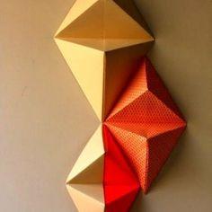 Оригами на стену из бумаги