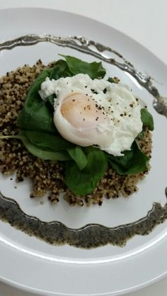 First attempted poached egg