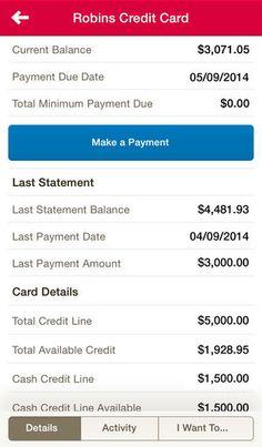Bank of America App ver. 5 (Credit Card)