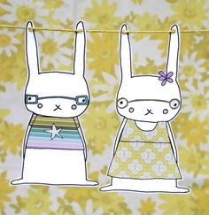 Rabbit garland printables (PDF) ♥♥♥