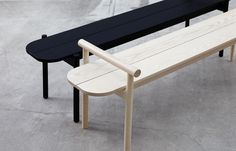 """389 Likes, 10 Comments - SKEEHAN pty ltd (@skeehanstudio) on Instagram: """"The HOSHI bench in Natural and Black finish. Designed exclusively for @stylecraftfurniture -…"""""""