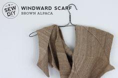 Alpaca Windward Scarf by Sew DIY #knitting #shawls #scarves #accessories