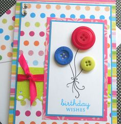 Handmade Birthday Card with Matching by SewColorfulDesigns on Etsy