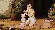 Grave of the Fireflies | 1988 | Isao Takahata Fireflies Anime, Hotaru No Haka, Isao Takahata, Grave Of The Fireflies, Studio Ghibli Movies, Old Anime, Hayao Miyazaki, Cool Cartoons, Reaction Pictures