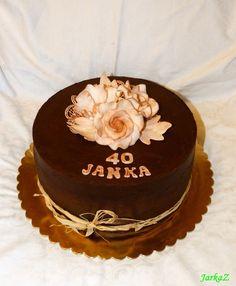 chocolate cake with roses - čokoládová torta s ružami