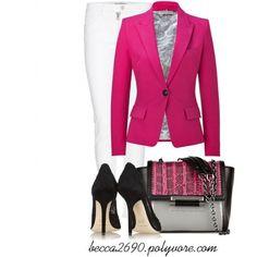 Add some color to your Spring, Summer wardrobe.....EMILIO PUCCI Rosebud Cotton Blend Blazer