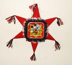Mickey Mouse pinata.. Star shaped Pinata  #Handmade #BirthdayChild