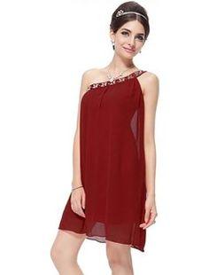 Ever Pretty Stunning Rhinestones One Shoulder Short Party Dress 03388