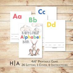 Instant download diy alphabet book baby shower activity game baby diy alphabet book baby shower activity game solutioingenieria Images