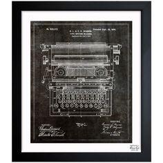 Oliver Gal Type Writing Machine 1899 Framed Graphic Art   AllModern