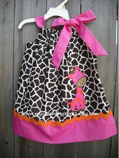 Giraffe Pillowcase dress! So want to make one for gentry grace