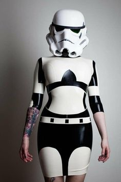 Star Wars Stormtrooper Inspired Rubber Latex Dress cosplay anyone?