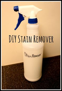 DIY Stain Remover from Discount Queens - awesome to have on hand in the laundry room! House Cleaning Tips, Diy Cleaning Products, Cleaning Solutions, Household Products, Diy Cleaners, Cleaners Homemade, Green Cleaners, Borax Cleaning, Cleaning Hacks