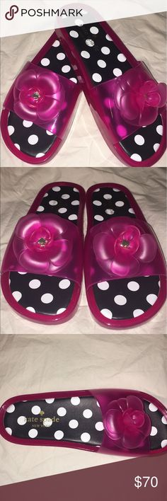 NWOT Kate Spade Jelly Slides women's size 7. New❗️ NWOT Kate Spade Jelly slides pink polka dots. Brand new! Never worn!! Size 7. Does not include box. kate spade Shoes Sandals