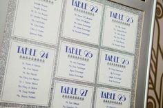 Art Deco Wedding Escort Table Lists
